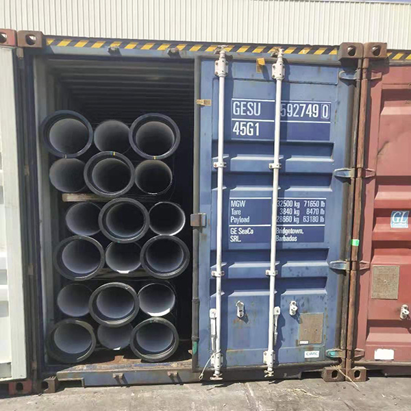 Ductile iron Pipe shipped by Container